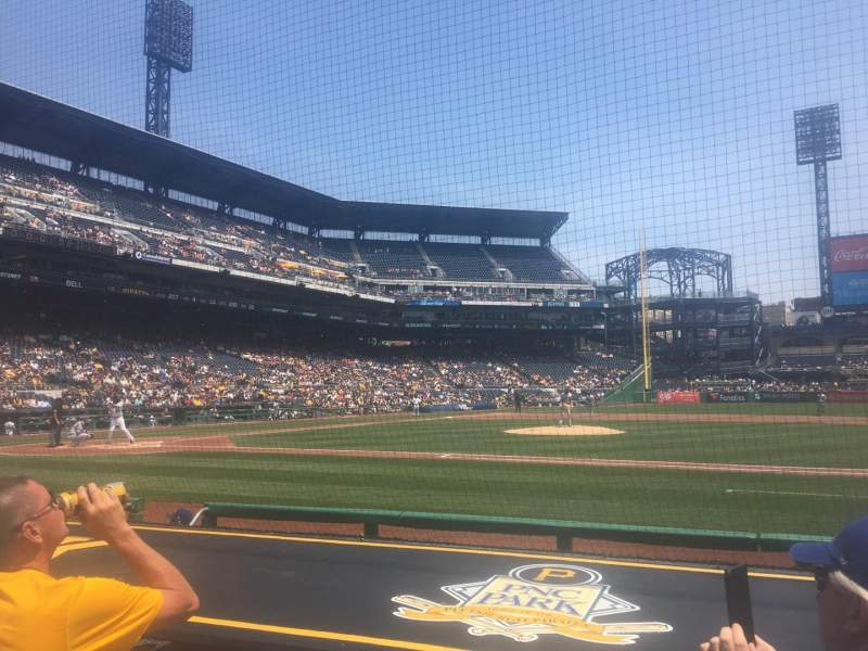 PNC Park, section: 10, row: H, seat: 9