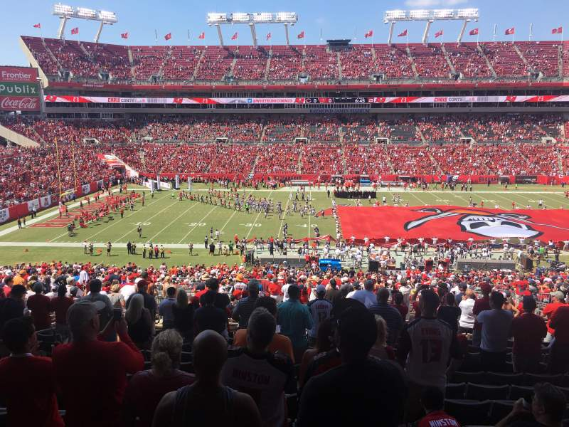 Seating view for Raymond James Stadium Section 235 Row DD Seat 7