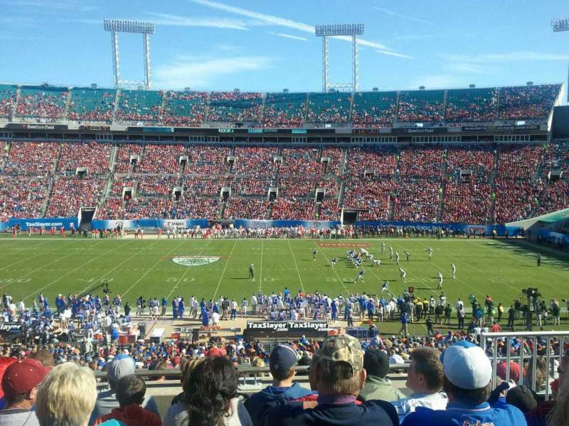 Seating view for Everbank Field Section 209 Row f Seat 5