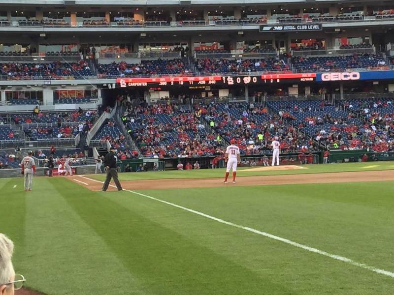 Seating view for Nationals Park Section 136 Row C Seat 1/2