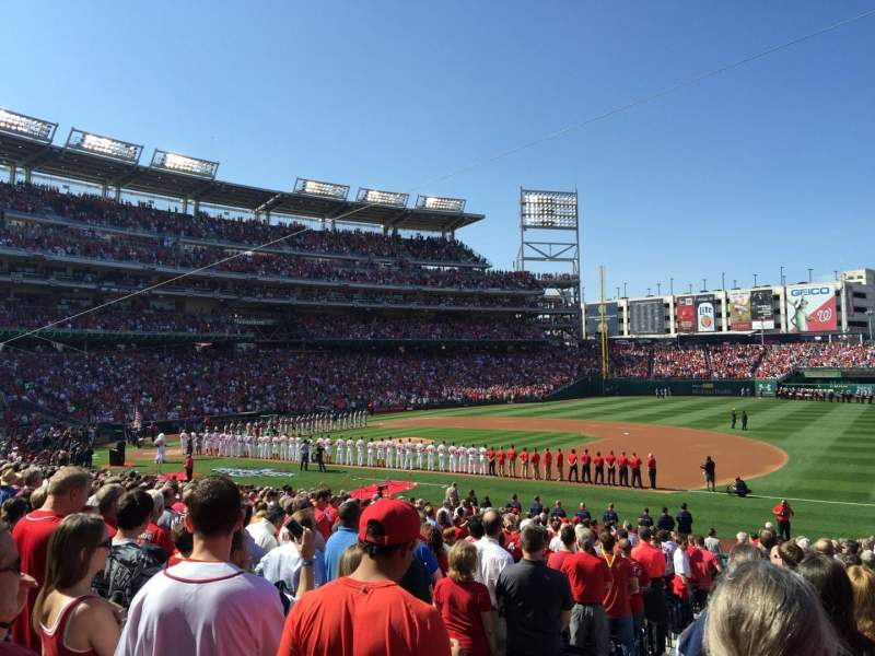 Seating view for Nationals Park Section 132 Row GG Seat 20/21
