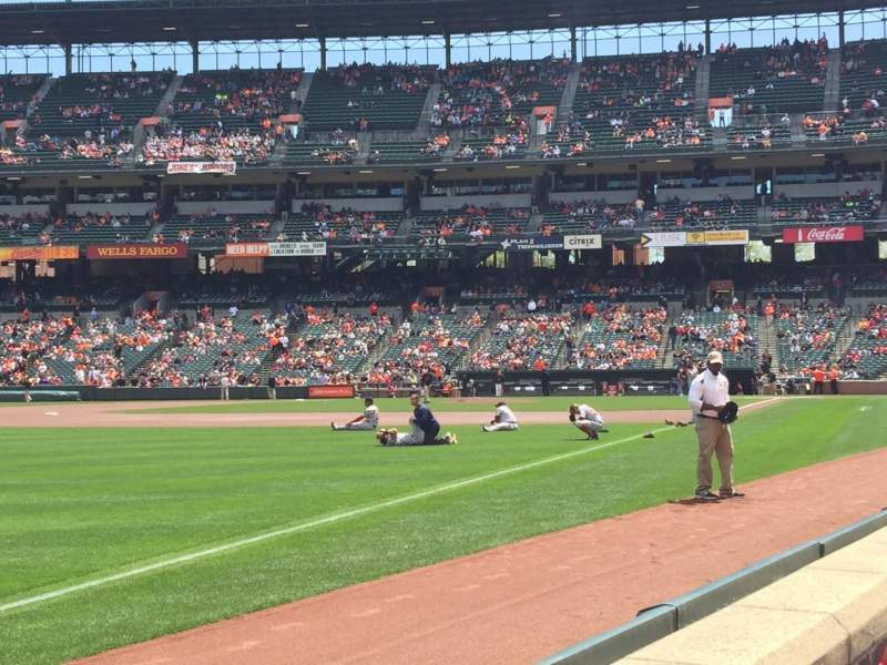 Seating view for Oriole Park at Camden Yards Section 68 Row A Seat 1
