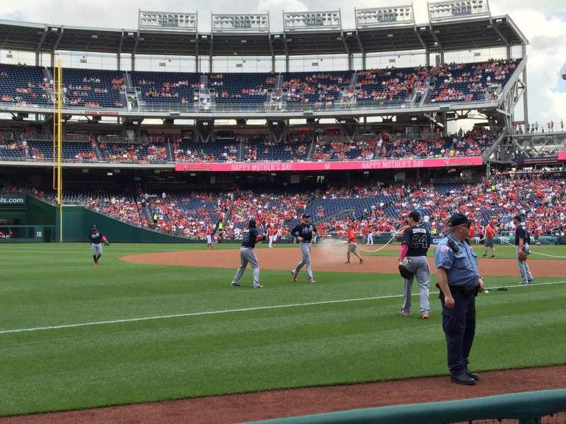 Seating view for Nationals Park Section 112 Row D Seat 21