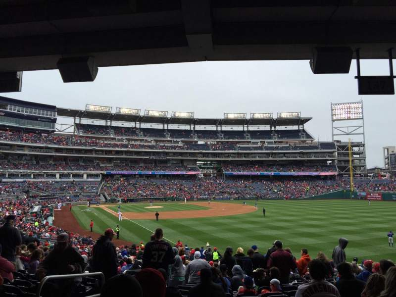 Seating view for Nationals Park Section 137 Row UU