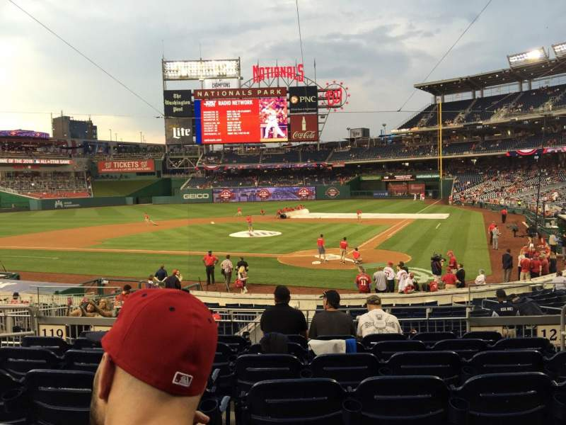 Seating view for Nationals Park Section 124 Row D Seat 5