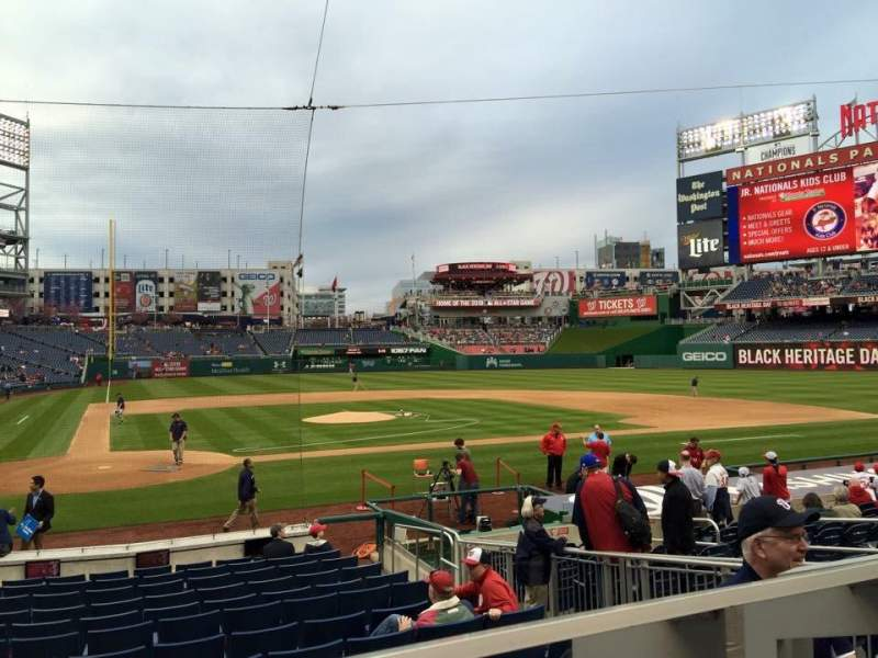 Seating view for Nationals Park Section 126 Row A Seat 1/2