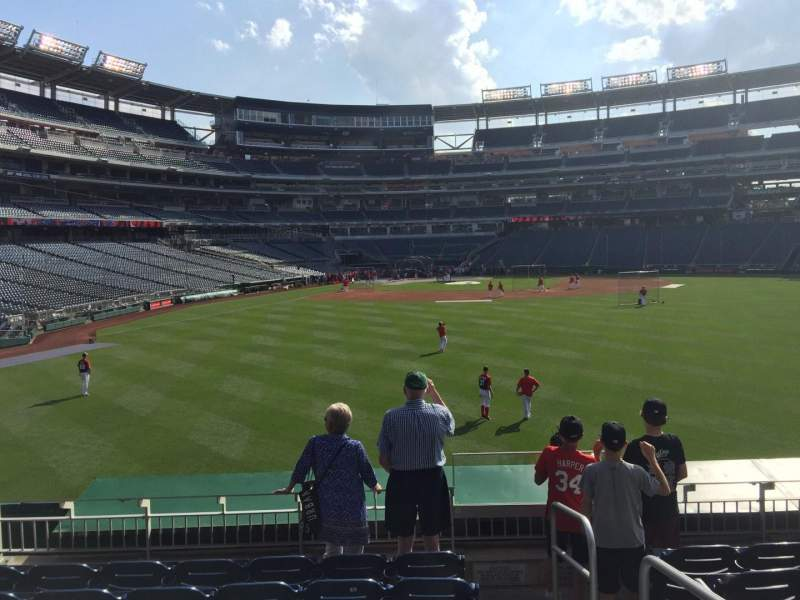 Seating view for Nationals Park Section 140 Row G Seat 1