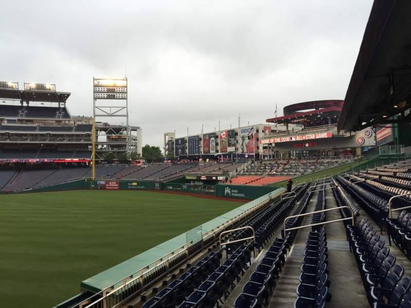 Seating view for Nationals Park Section 140 Row G Seat 19