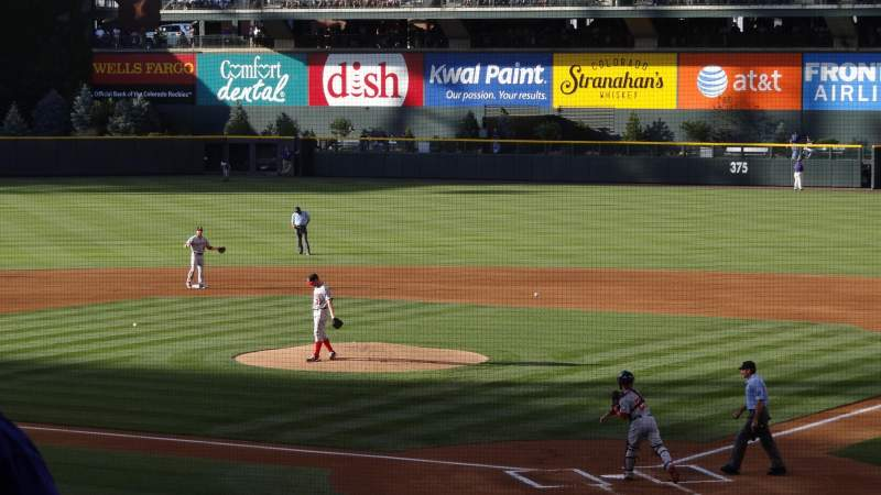 Seating view for Coors Field Section 132 Row 30 Seat 12