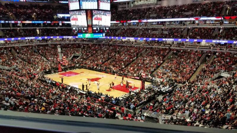 Seating view for United Center Section Harris Club Row 1 Seat GA