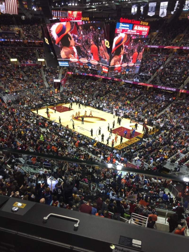 Seating view for Quicken Loans Arena Section 212 Row 1 Seat 12