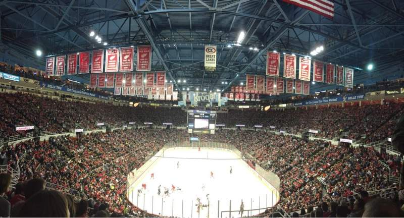Seating view for Joe Louis Arena Section 201 Row 11 Seat 4