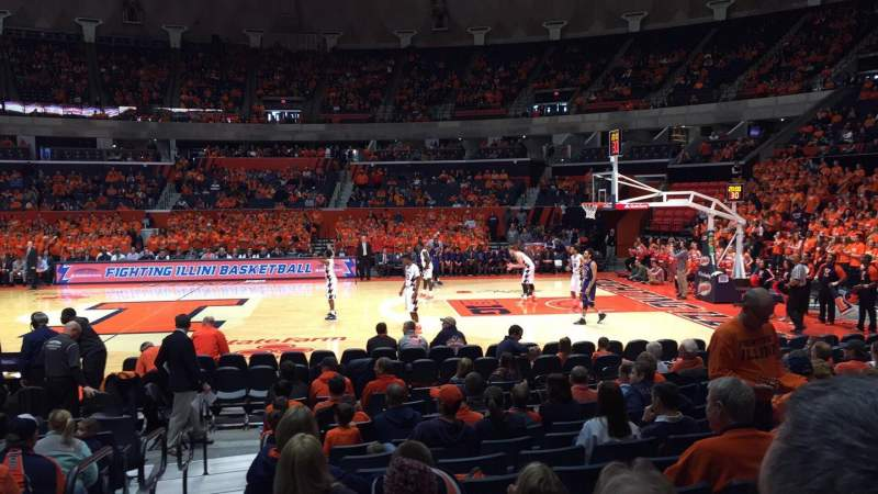 Seating view for State Farm Center Section 120 Row 9 Seat 18