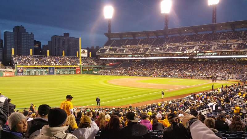 Seating view for PNC Park Section 130 Row y Seat 11