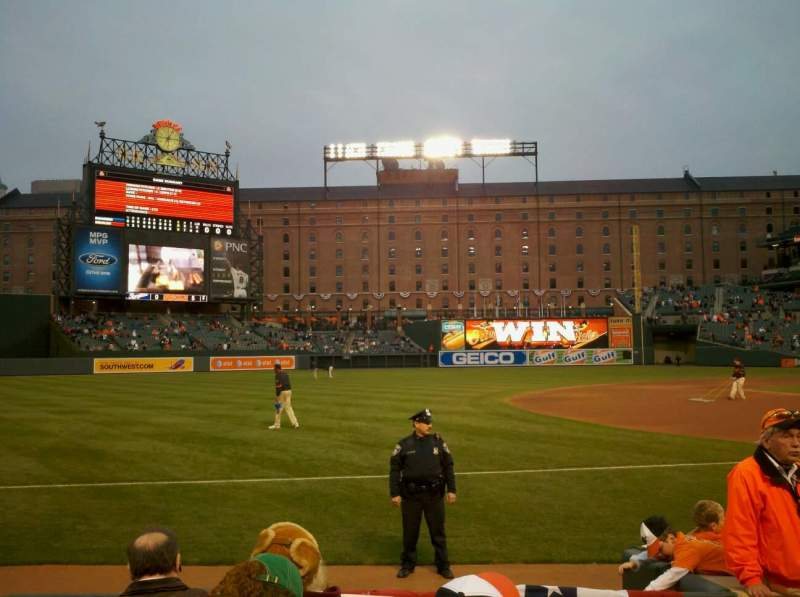 Seating view for Oriole Park at Camden Yards Section 60 Row 5 Seat 5
