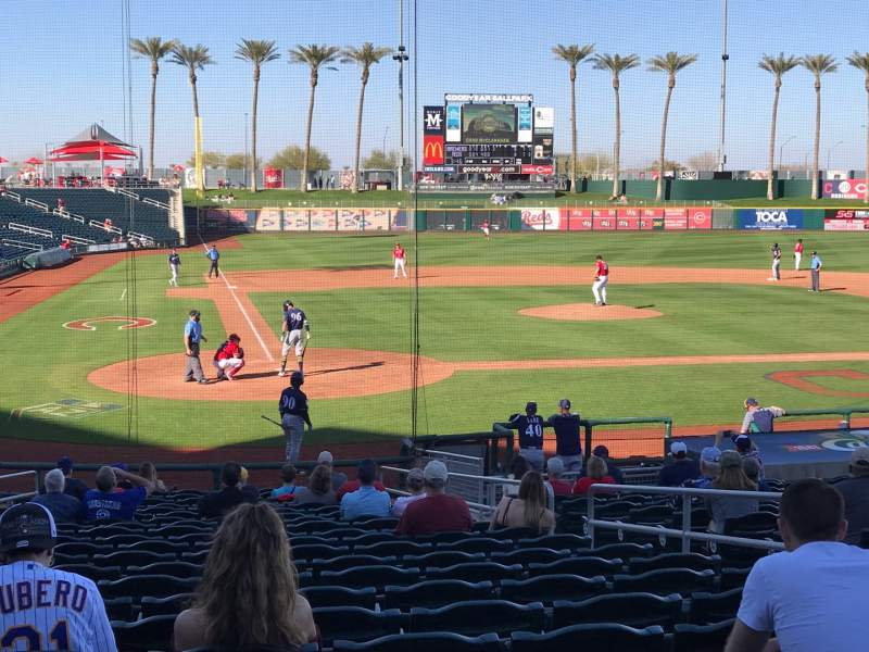 Seating view for Goodyear Ballpark Section 114 Row X Seat 7