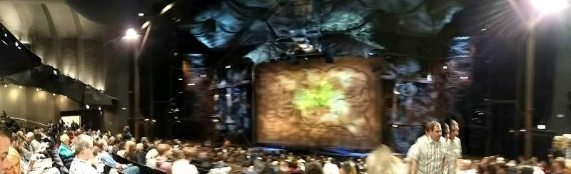 Seating view for Gershwin Theatre Section orch Row L Seat 118