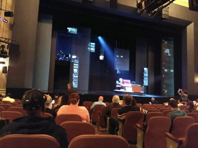 Seating view for Music Box Theatre Section Orchestra L Row m Seat 3