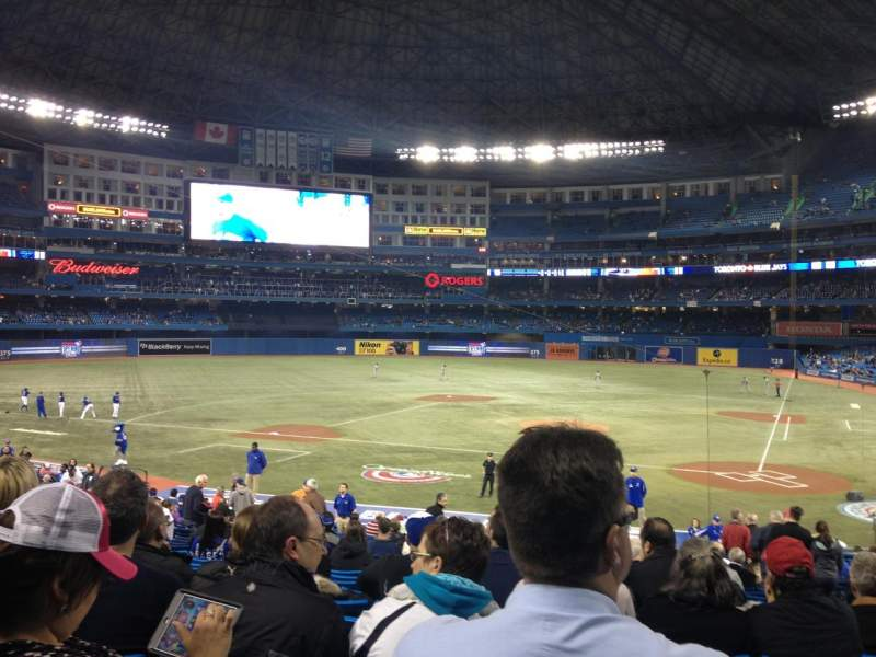 Seating view for Rogers Centre Section 124L Row 32 Seat 105