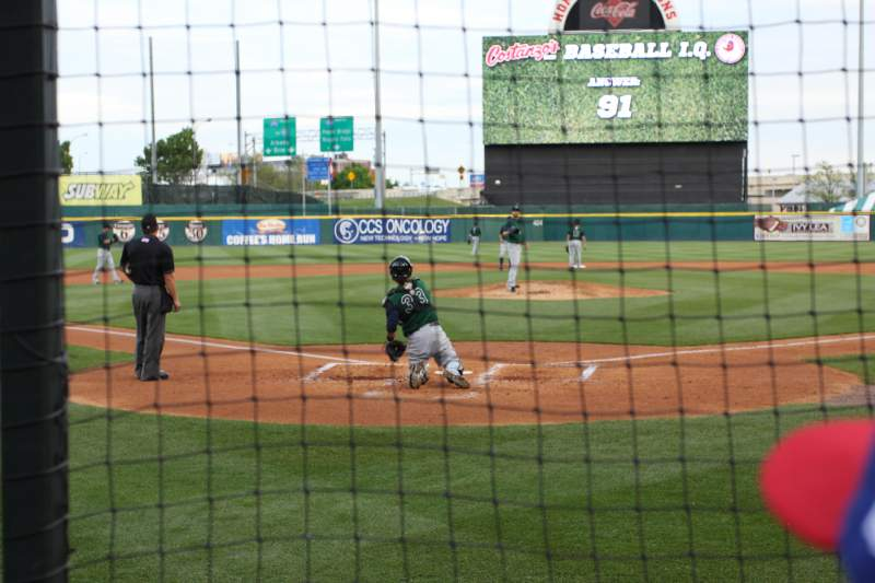 Seating view for Sahlen Field Section 102 Row B Seat 13