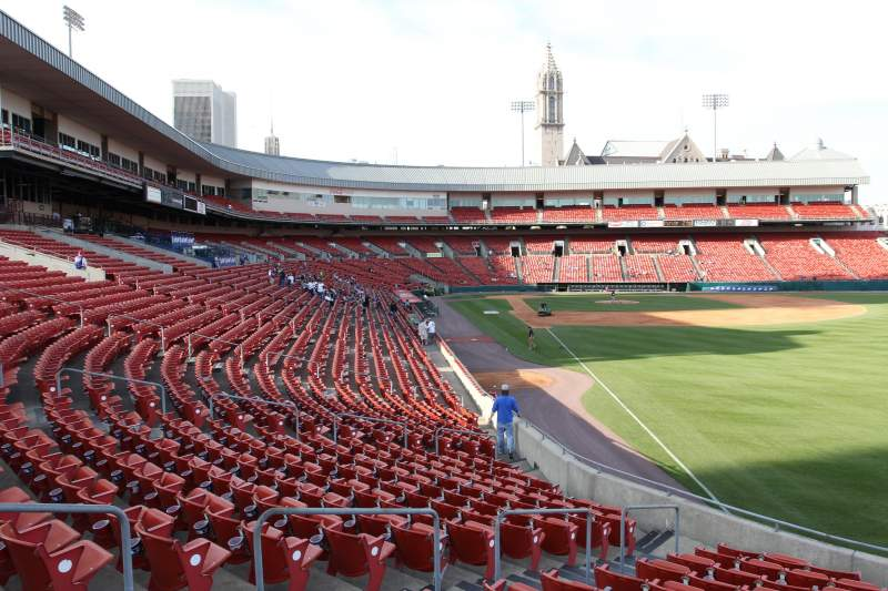 Seating view for Coca-Cola Field Section 128 Row U Seat 1