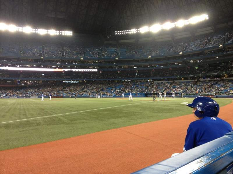 Seating view for Rogers Centre Section 130B Row 1 Seat 103