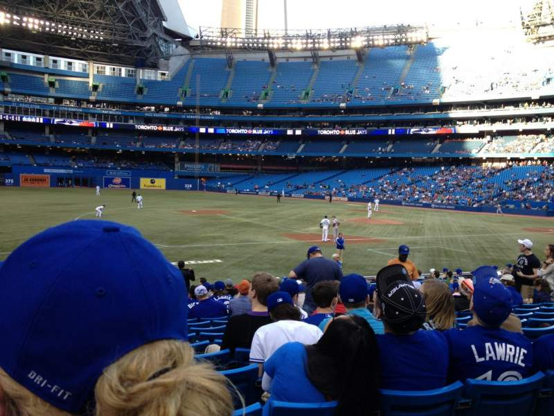 Seating view for Rogers Centre Section 129R Row 20 Seat 5