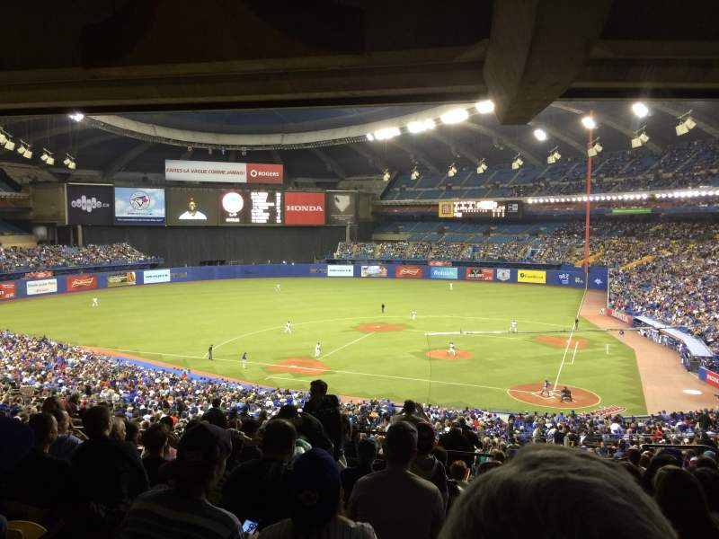 Seating view for Olympic Stadium, Montreal Section 210 Row M Seat 8