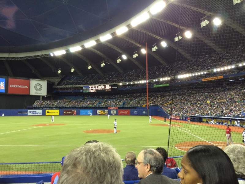 Seating view for Olympic Stadium, Montreal Section 106 Row KK Seat 10