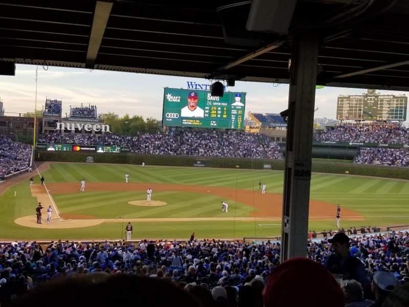 Seating view for Wrigley Field Section 226 Row 17 Seat 107