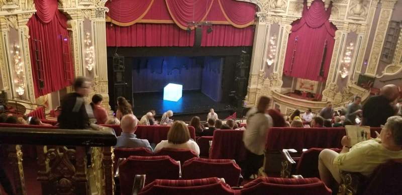 Seating view for James M. Nederlander Theatre Section Balcony L Row R Seat 355