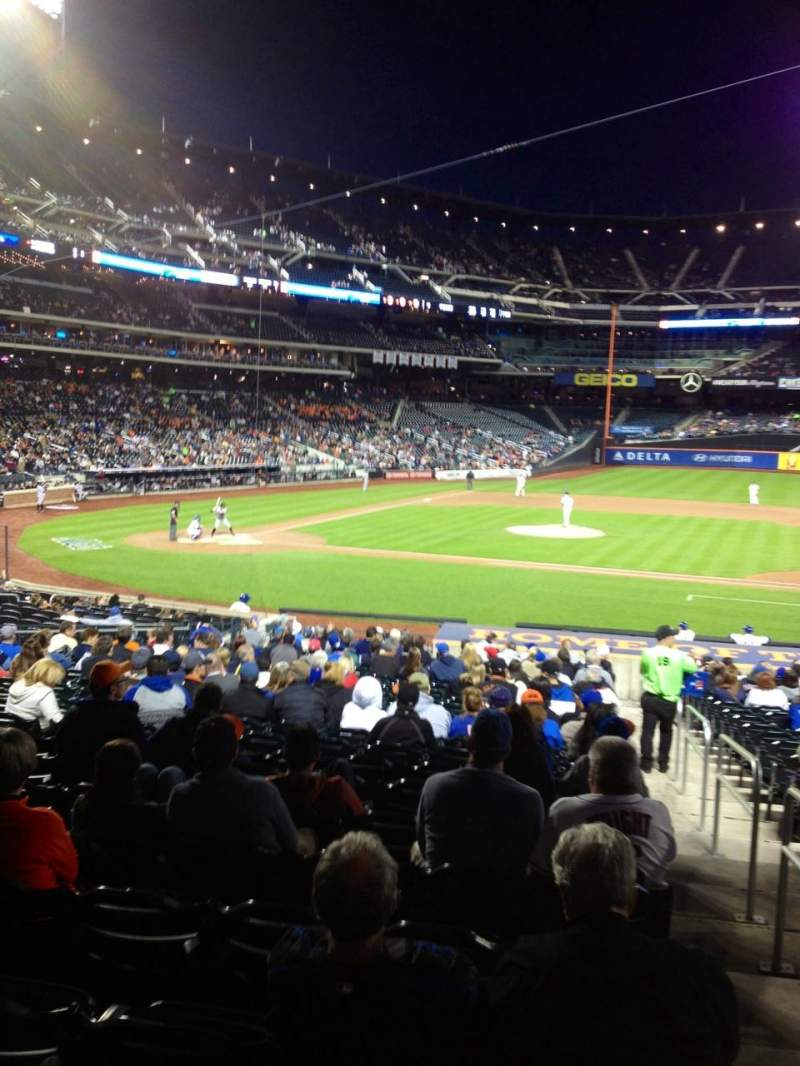 Seating view for Citi Field Section 114 Row 23 Seat 2