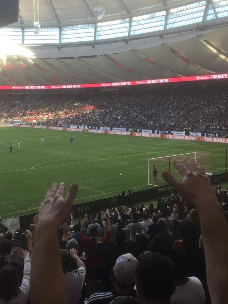 Seating view for BC Place