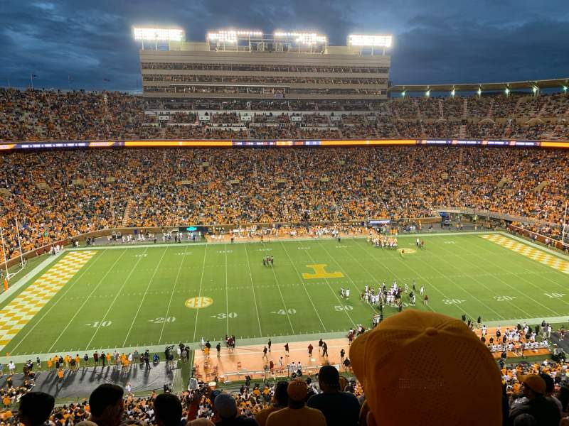 Seating view for Neyland Stadium Section EE Row 11 Seat 7