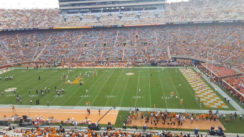 Seating view for Neyland Stadium Section AA Row 1 Seat 32