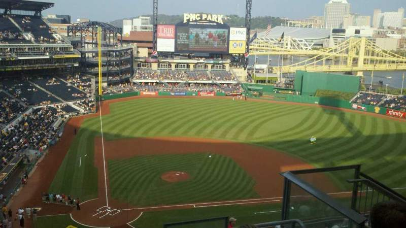 Seating view for PNC Park Section 313 Row l Seat 6