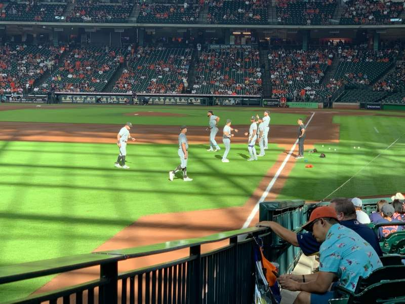 Seating view for Minute Maid Park Section 105 Row 19 Seat 1