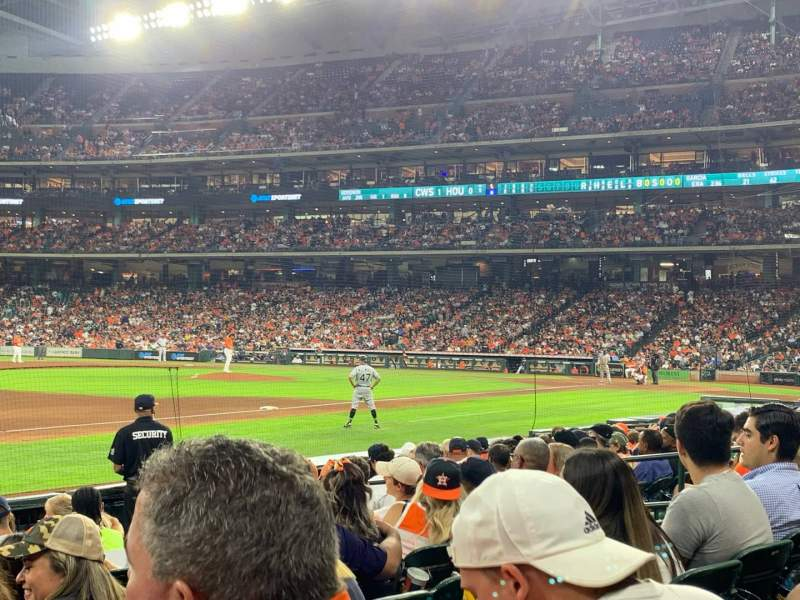 Seating view for Minute Maid Park Section 110 Row 10 Seat 8