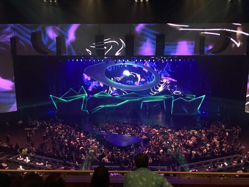 Seating view for Park Theater at Park MGM Section 404 Row D Seat 16,17