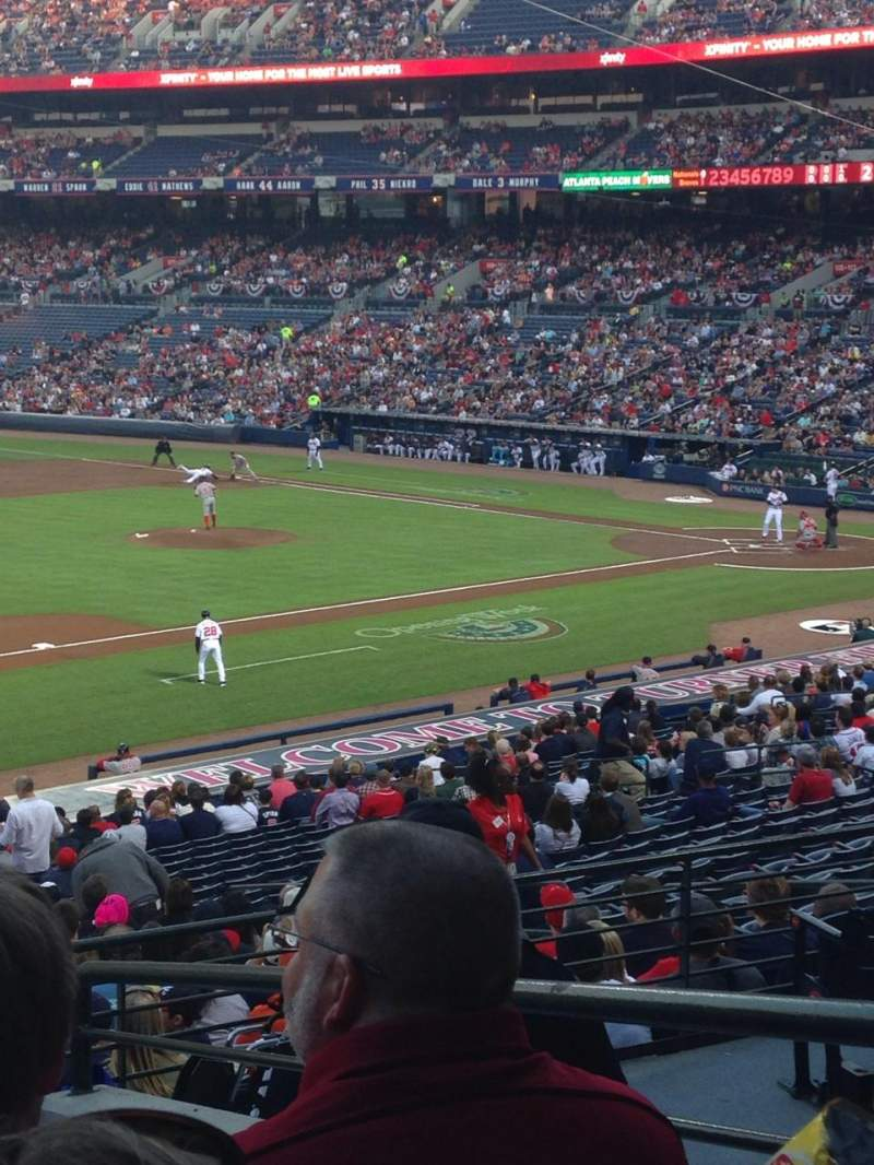 Seating view for Turner Field Section 220 Row 5 Seat 3