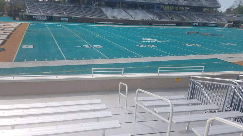 Seating view for Brooks Stadium Section 100 Row I Seat 3