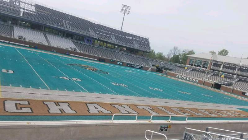 Seating view for Brooks Stadium Section 103 Row H Seat 15