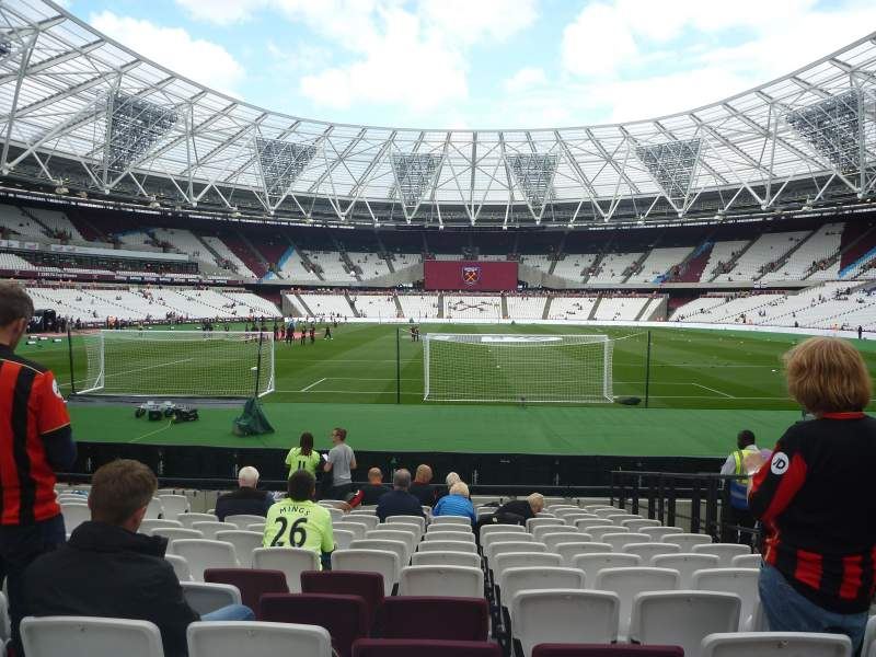 Seating view for London Stadium Section 120 Row 14 Seat 45