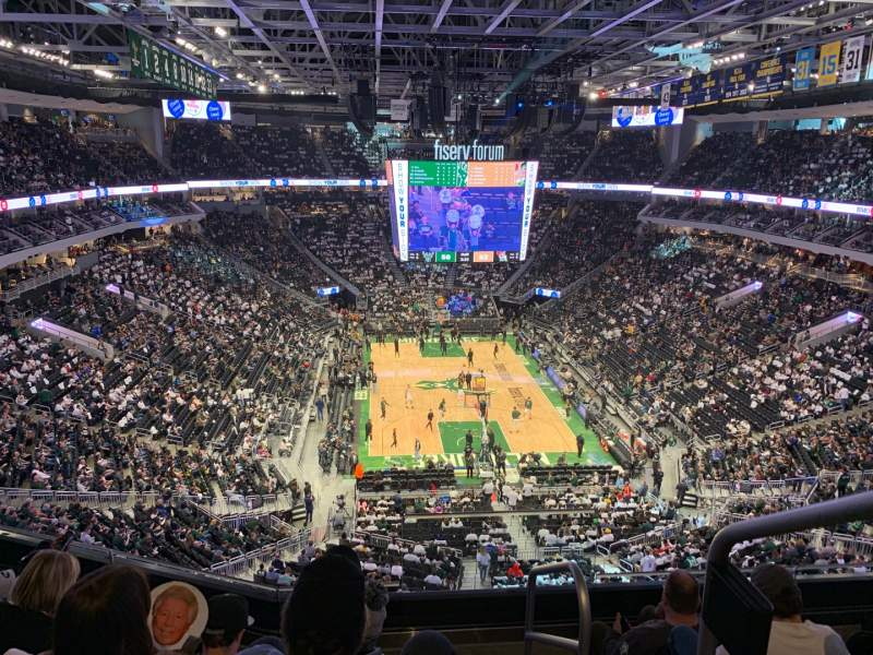 Seating view for Fiserv Forum Section 202 Row 5 Seat 1