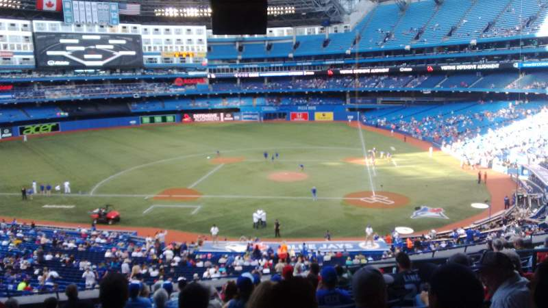 Seating view for Rogers Centre Section 227L Row 13 Seat 104