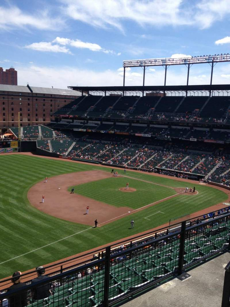 Oriole Park At Camden Yards Section 364 Home Of