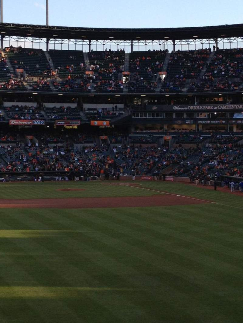 Seating view for Oriole Park at Camden Yards Section 85 Row 3 Seat 15