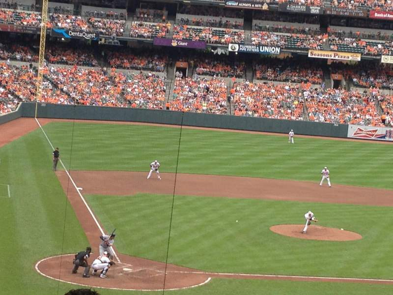 Seating view for Oriole Park at Camden Yards Section 29 Row 7  Seat 8