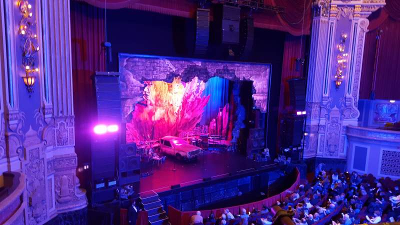 Seating view for Oriental Theatre Section LOGE-L Row A Seat 357