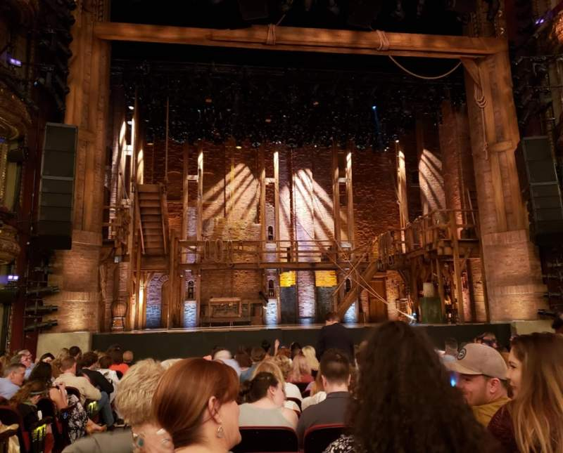 Seating view for CIBC Theatre Section Orchestra C Row P Seat 102